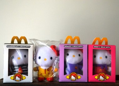 Hello Kitty McDonalds in Asia Hong Kong Comfort Foods while Travelling