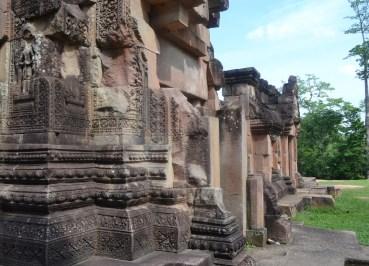 Temple Walls at Prasat Ta Muan Thom, Khmer Temples in Surin Thailand
