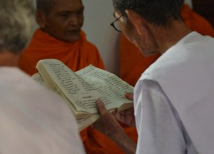 Prayers book, Buddhist Monk Blessing Ceremony for Health, Thailand