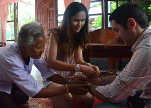 Sacred Thread Bracelets, Isaan Tours and Phanom Rung Thailand