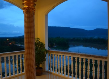 Corner Views of Mekong, Champasak Palace Hotel Pakse Hotel Review Laos