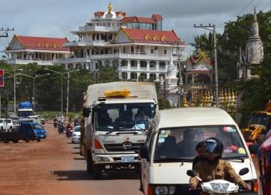 Pakse Morning Traffic, Champasak Palace Hotel Pakse Hotel Review Laos