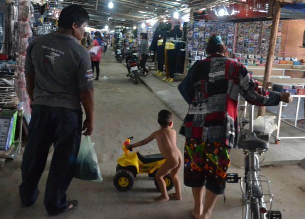 Naked at Chong Chom Market, Thailand-Cambodia Border Crossing, SE Asia