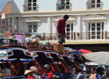 Tuk-tuks, Dan Heuang Market, Things to do in Pakse City Southern Laos