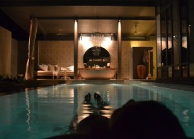 Night Swimming at Villa, Sala Phuket Resort Review, Phuket Pool Villas