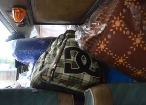 Bus Head Rest, Savannakhet to Pakse by Bus, Travel in Southern Laos