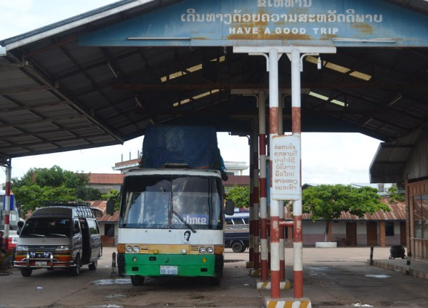 Bus Station, Savannakhet to Pakse by Bus, Travel in Southern Laos