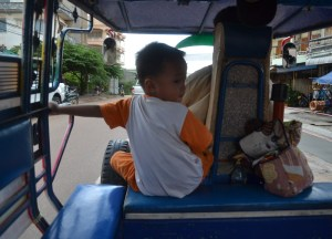 Local Tuk-Tuk, Savannakhet to Pakse by Bus, Travel in Southern Laos