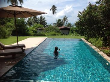 Sipping Wine in Pool Village Coconut Island Resort Phuket Hotel Review