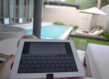 Touch Screen Keyboard, Travel Blogging with Ipad, Tablets, Southeast Asia