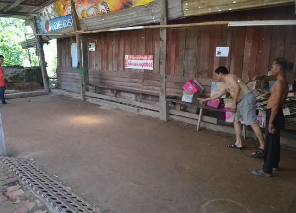 Gravel Court, Playing Petanque in Laos, French Influences in Asia