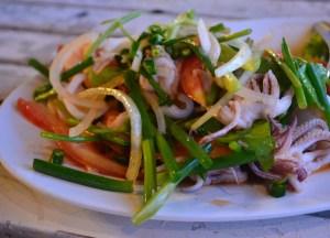 Spicy Seafood Salad, Laem Hin Seafood Restaurant, Phuket, Thai Food
