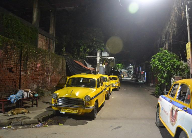 Sudder Street at Night, Tourist Areas of Kolkata City Centre, India