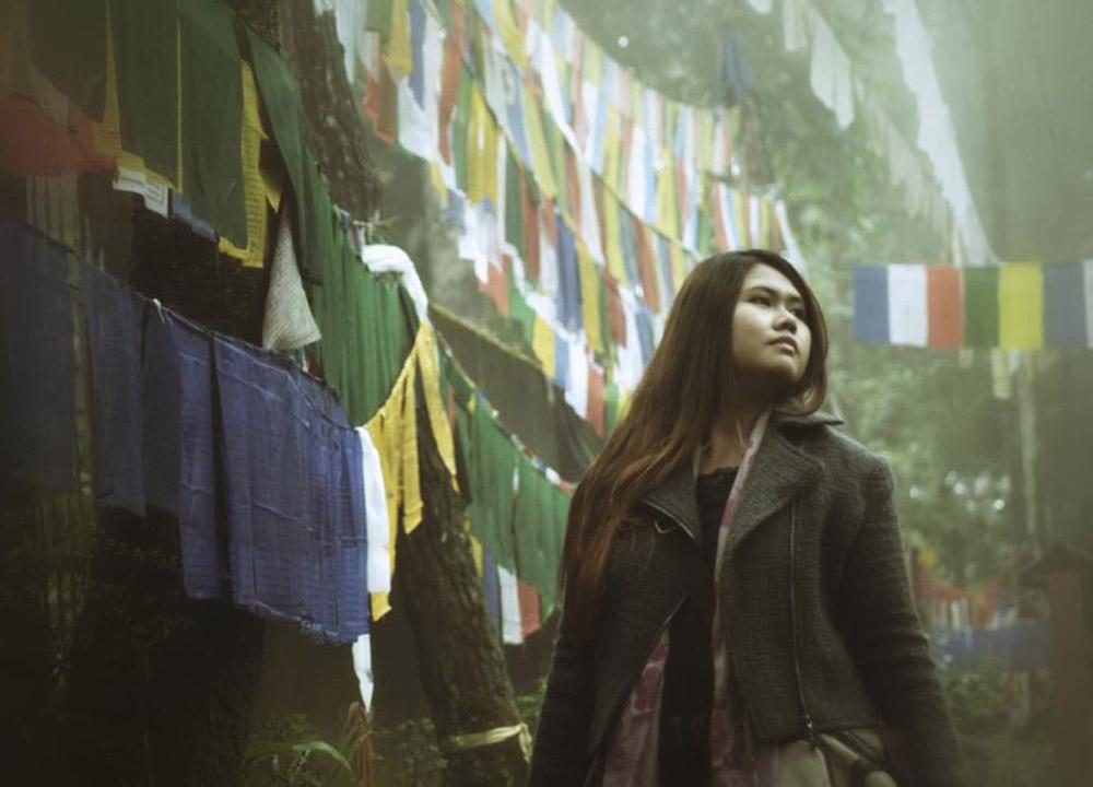 Cloudy Prayer Flags, Enchey Monastery Gangtok, Sikkim Tibetan Monasteries