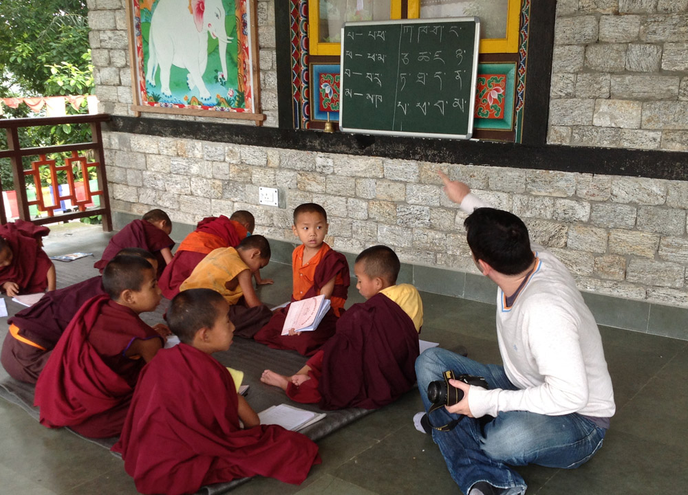 Teaching Young Monks, Enchey Monastery Gangtok, Sikkim Tibetan Monasteries