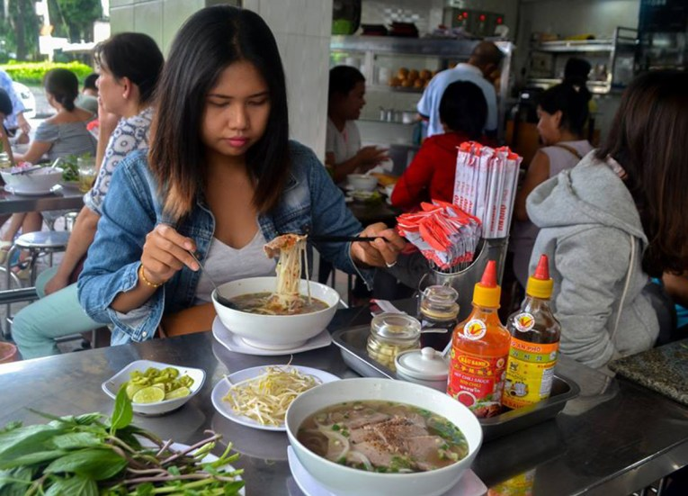 Pho Noodle Soup Top 10 Vietnamese Food Eating in Vietnam