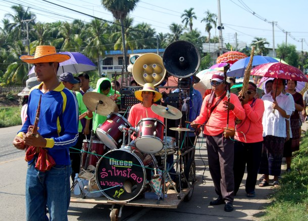 Local Procession Band, Isaan Tours and Phanom Rung Thailand