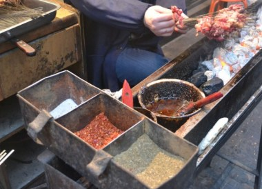 Chinese Marinated Kebabs, Top Ten Chinese Street Food in Xian China