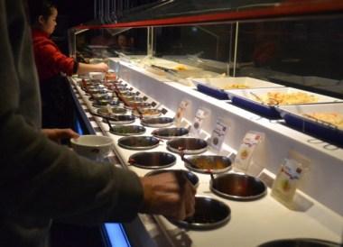 Condiment Canteen, Haidilao Sichuan Mala Hot Pot, Xian, China