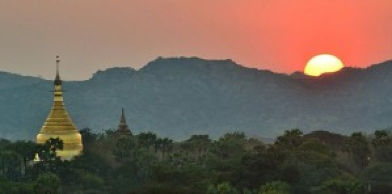 Sunrise from New Bagan, 2 days in Bagan and Mount Popa, Myanmar