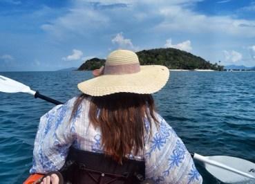 Fanfan Narach Kayaking from Koh Mak to Koh Kham Island Thailand, Travel by Boat, Kayak