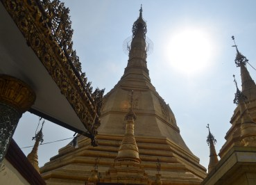 Central Golden Chedi, Sule Pagoda in Yangon Downtown, Myanmar