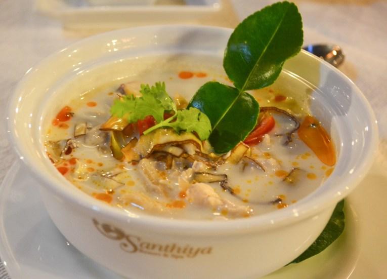 Chicken Coconut Soup Tom Kha Kai, Santhiya Koh Yao Yai Resort Pool Villas, Thailand
