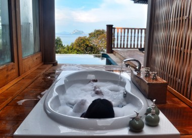 Sunken Bathtub on Veranda, Santhiya Koh Yao Yai Resort Pool Villas, Thailand
