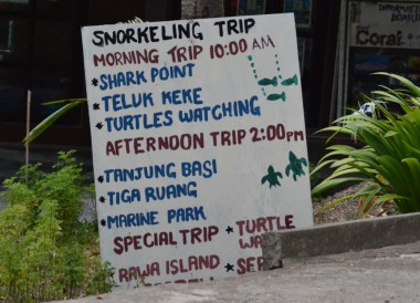 Daily Trip Schedule, Best Snorkelling in the Perhentian Islands Resort