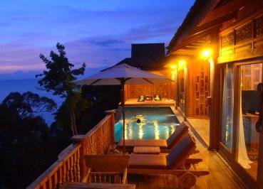 Beautiful Sunset Views of Pool, Santhiya Koh Yao Yai Resort Pool Villas, Thailand