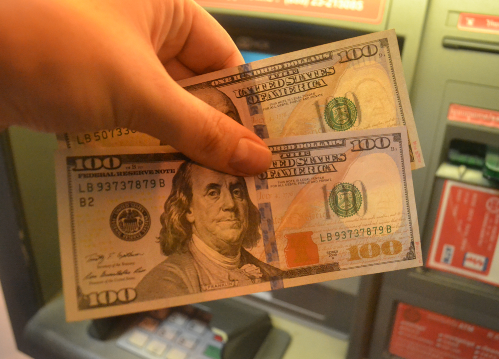 Hundred Dollar Bills, US Dollars or Local Currency Cambodia