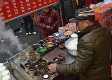 Eating in Xian Muslim Quarter (Beiyuanmen Street)