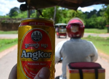 Refreshing Angkor Beer, Best Thai VISA Runs from Bangkok Thailand