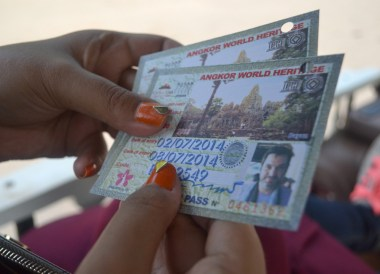 Photograph on tickets, Introduction to Angkor Wat Two Day Tours