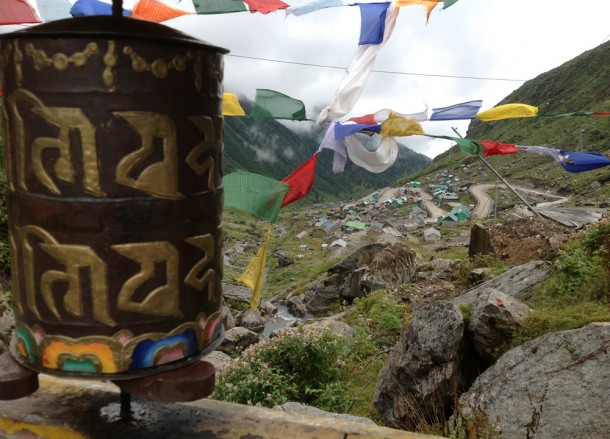 Gangtok to Changu Lake in Low Season, Prayer Wheels