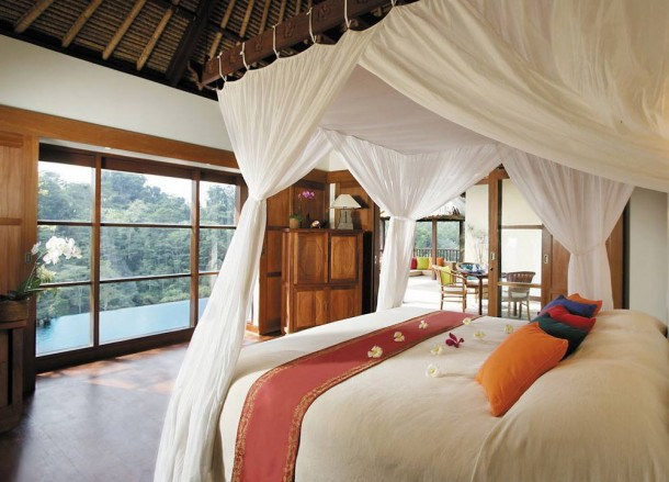 Rainforest Views, Top 10 Ubud Resorts, Spas. Bali Hotels