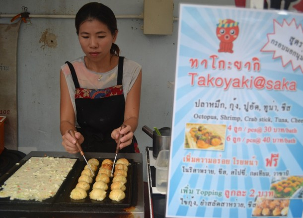 Takoyaki Balls, International Street Food in Bangkok