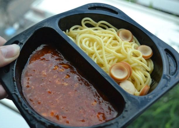 Spaghetti Bolognese, 7-11 Food in Bangkok Thailand