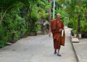 Local Buddhist Monk, Bangkok to Koh Kret Island, Thailand