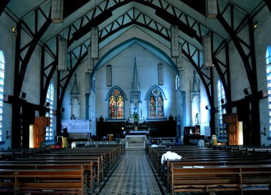 Blue Church, Puerto Princesa, Immaculate Conception Cathedral, Philippines