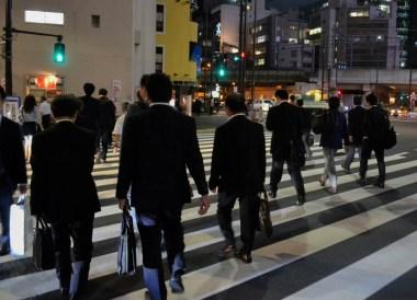 Salarymen, Shimbashi Station Area Tokyo JR Pass Japan