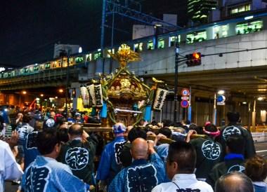 Shinto Festival, Shimbashi Station Area Tokyo JR Pass Japan