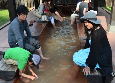 Free Foot Spas, 8 Hells of Beppu by JR Pass, Japan Travel