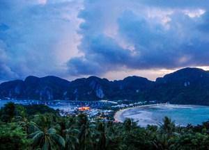 Storm at Viewpoint, Best Ko Phi-Phi Tours from Phuket, Maya Bay Beach