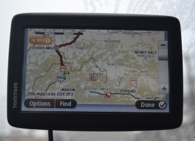 GPS Sat Nav, Winter Road Trip in East Central Europe