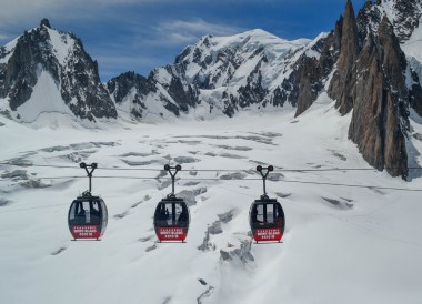 Chamonix Cablecars, Road Trip in France Southern Borders June