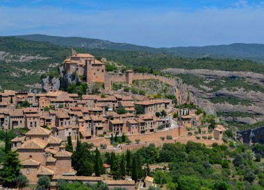 Viewpoint Above Alquézar, Huesca, Northern Spain, Medieval Village