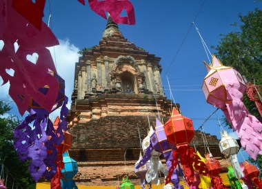 Colourful flags, Top 10 Attractions in Chiang Mai Province Thailand