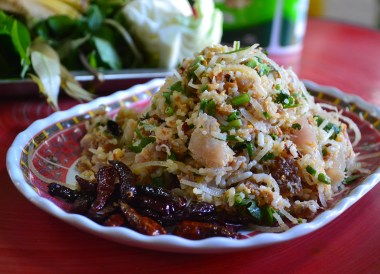 Naem rice balls, Best Restaurants in Vientiane Riverside Lao Food