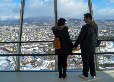 Goryokaku Tower Hakodate, 24 Hours at the Sapporo Snow Festival by Rail (JR Pass)